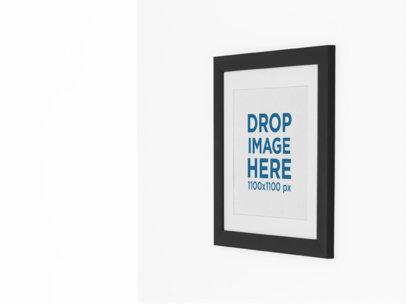 Square Framed Art Print Mockup on a Wall a15281