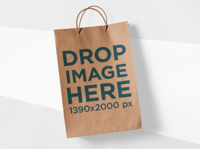 Paper Bag Template Lying on a Tricolor Surface a15306