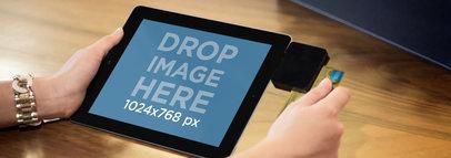 iPad Black Landscape Retail Service Wide
