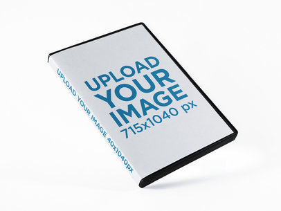 DVD Box Mockup Lying on a Solid Color Surface a15206