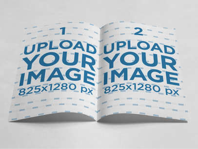 Frontal Mockup of a Magazine Lying on a Solid Color Surface a15292