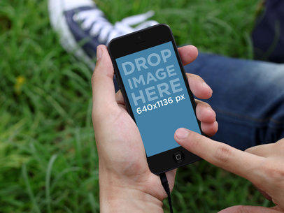 Black Portrait iPhone 5 At The Park