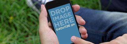 Black Portrait iPhone 5 At The Park Wide