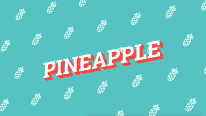 Text Animation Maker with Pineapples in Background a109
