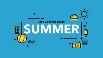 Text Animation Maker with Straight Lines and Summer Graphics a150