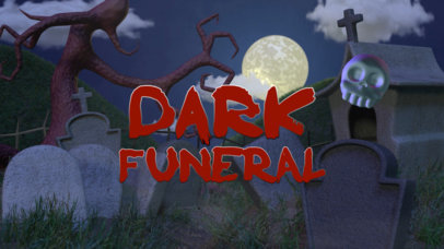 Text Animation Maker With Graveyard Graphics a106