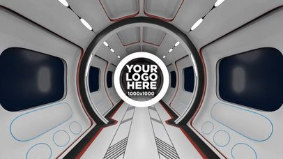 Logo Intro with Futuristic Hallway Looped Animation a212