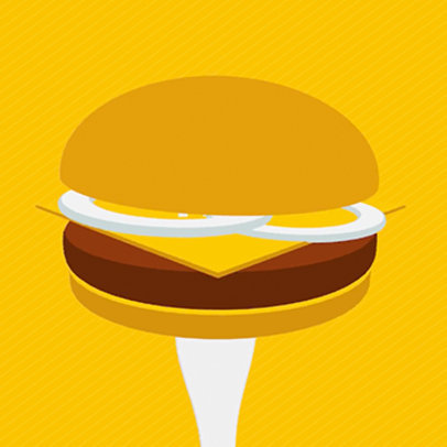 Text Animation Maker with Animated Burger Graphic 189