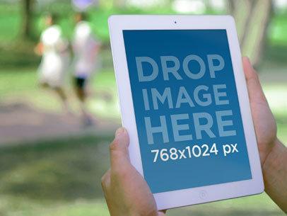 White iPad Retina Display Park