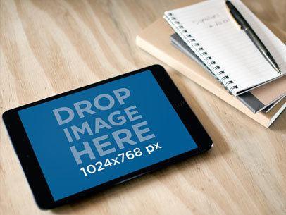 Black iPad Mini Notebook Table
