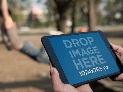 Black iPad Mini Landscape Park