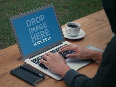 Typing 15 Inch MacBook Pro Retina Coffee