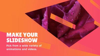 Minimalist Slideshow Maker with Animated Geometric Shapes  838