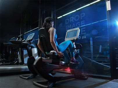 Mockup Template of a Woman Exercising at the Gym a6175