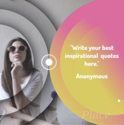 Inspirational Quote Video Maker for Instagram with Custom Video Effects 857