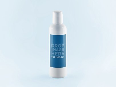 placeit label mockup featuring a plastic spray bottle