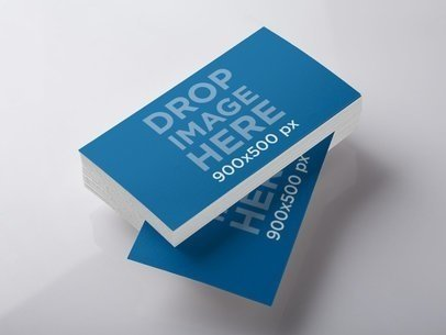 Mockup Featuring a Stack of Business Cards Lying Over a Smooth Surface a6303