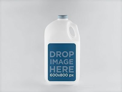 Label Mockup Featuring a 1 Gallon Square Plastic Jug a838