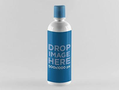 Label Mockup Featuring a Water Bottle Over a Smooth Surface a850