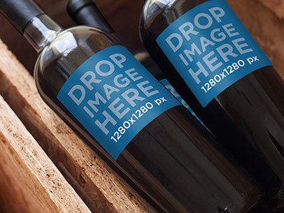 Mockup Featuring a Set of Wine Bottles in a Wine Crate a6750