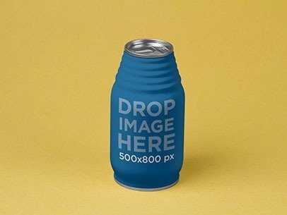 Label Mockup Featuring a Juice Can Over a Flat Surface a6893