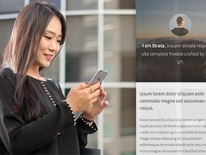 Asian Woman Standing Outside her Office iPhone App Demo Video a8384
