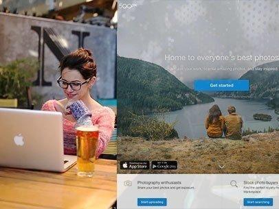 Macbook App Demo Video of a Girl at a Restaurant's Terrace a8508