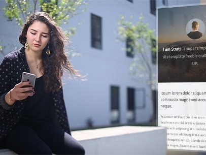 iPhone App Demo Video of a Girl Sitting on a Bench 9213a