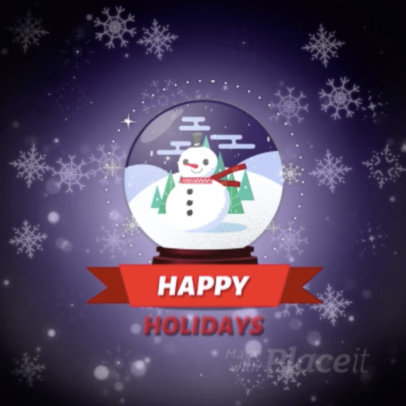 Instagram Video Maker Featuring an Animated Christmas Snow Globe 1905