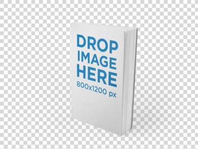 Mockup Template of a Paperback Book Standing Over a Flat Background a9929