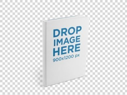 Ebook Mockup of a Hardcover Book Standing Over a Flat Background a9920