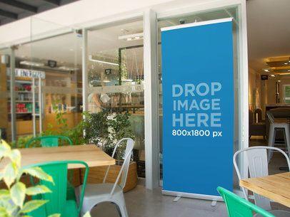 Banner Mockup Template at a Vegan Restaurant a10521