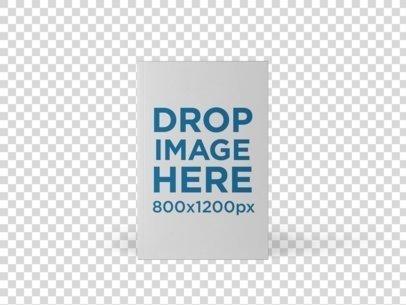 E-Book Mockup Template Over a White Background a9912