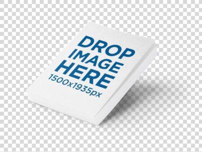 Paperback E-Book Mockup Over a White Background a9884