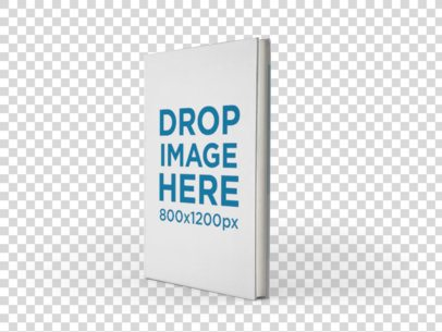 Book Mockup of an Angled Book Showing its Cover a9916