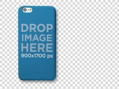 Top View Mockup of an iPhone 6 Case Lying on a Surface a10226