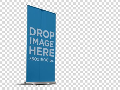 Banner Mockup of a Roll-Up Banner 11756