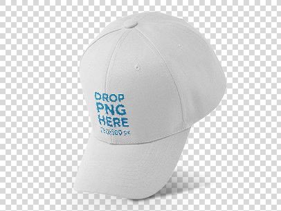 Mockup of a Dad Hat Tilted Over a Null Background 11750