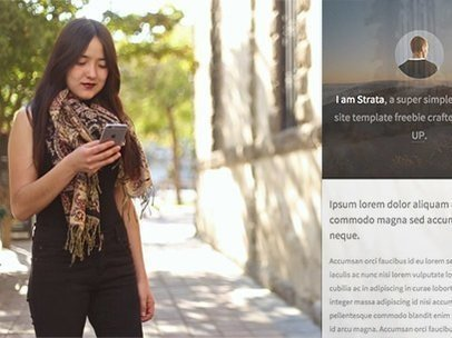 Young Asian Woman Using Her iPhone in the Street App Demo Video a9204
