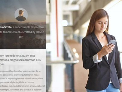 Businesswoman Checking Her iPhone at Work App Demo Video a9594