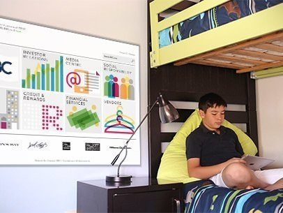 Young Boy Sitting on His Bed Using His iPad App Demo Video 10066a