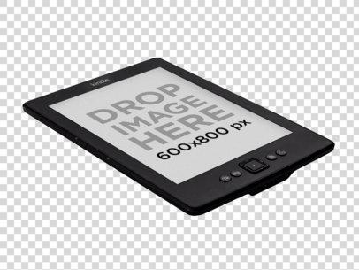 Amazon Kindle Mockup Lying Over a Surface PNG Mockup a11816
