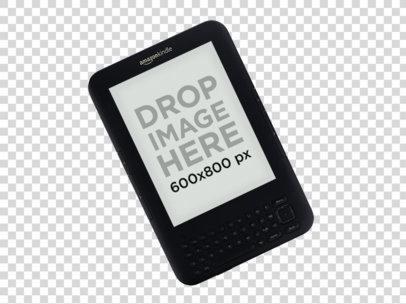 Angled Top Shot Amazon Kindle Keyboard Mockup a11818