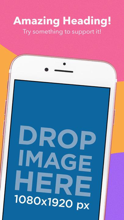 Pink iPhone Diagonal Portrait App Store Screenshot Generator