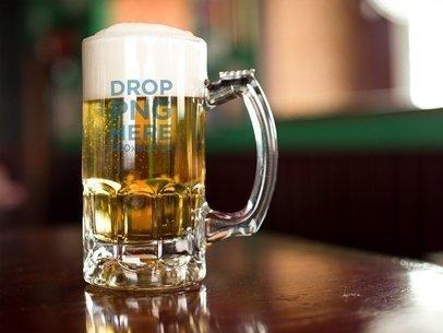 Beer Mug Template at a Bar a14779