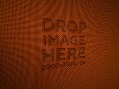 Logo on an Orange Fabric Texture Template a14820