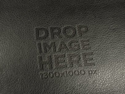 Logo Template of a Black Leather Texture a14825
