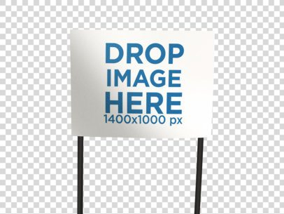 Transparent Mockup of a Real Estate Lawn Sign  a15056